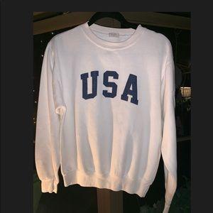 Brandy Melville/J Galt USA Crewneck Sweatsht NWOT